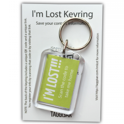 I'm Lost Keyring Green