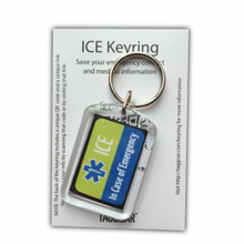 Load image into Gallery viewer, ICE Keyring Green