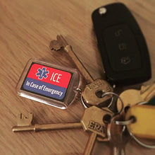 Load image into Gallery viewer, ICE Keyring Red