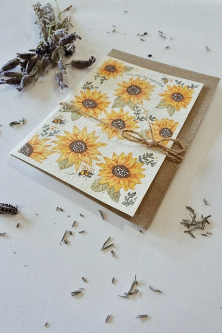 Plantable Card-You Are My Sunflowers