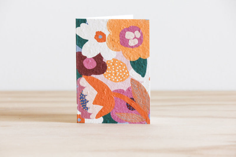 Moon Flower Blooming Plantable Card