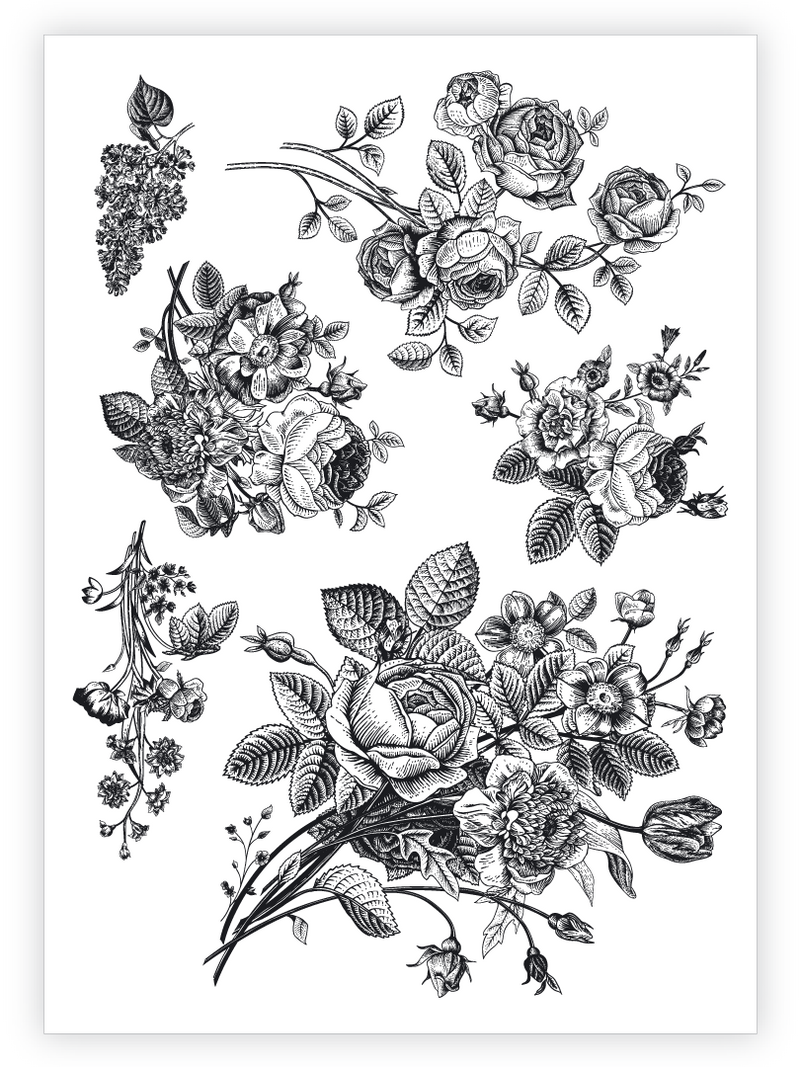 Tattoos-Vintage Flowers