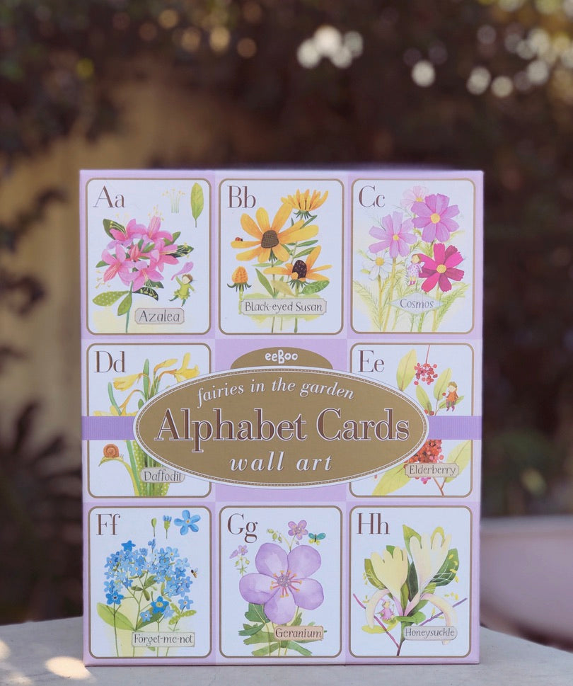 Alphabet Cards Fairies in The Garden