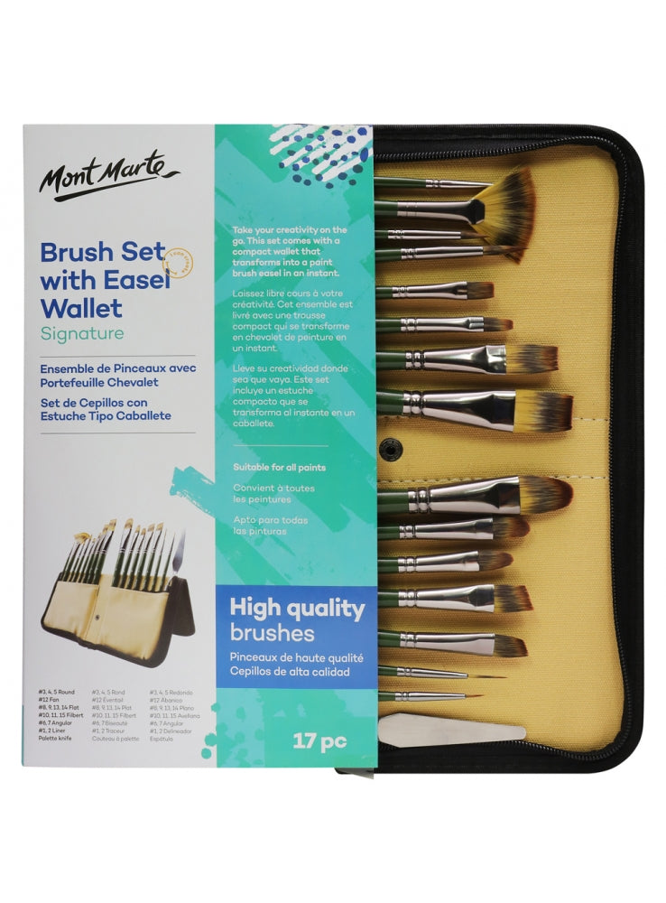 Brush Set With Easel Wallet