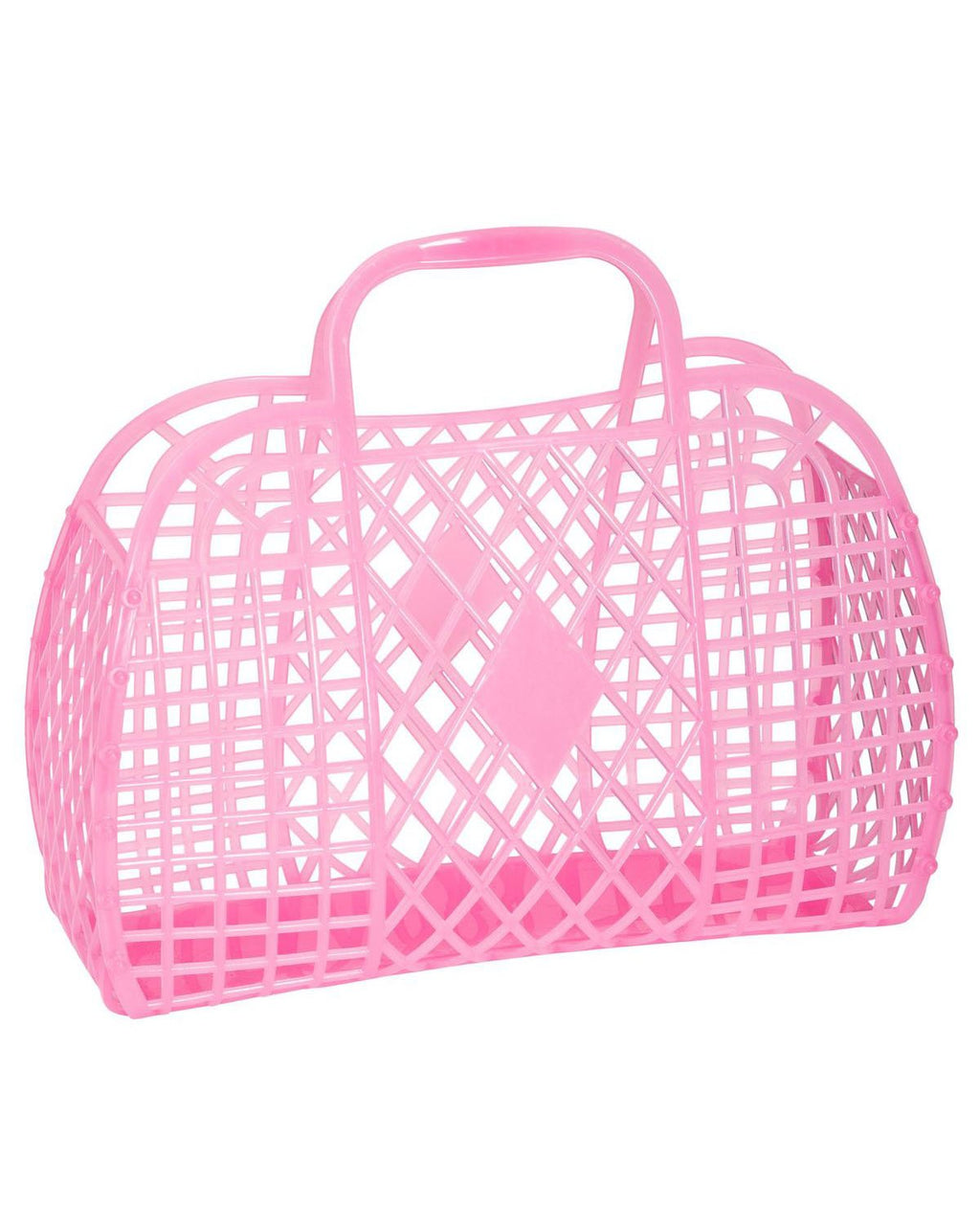 Retro Basket Hot Pink Small
