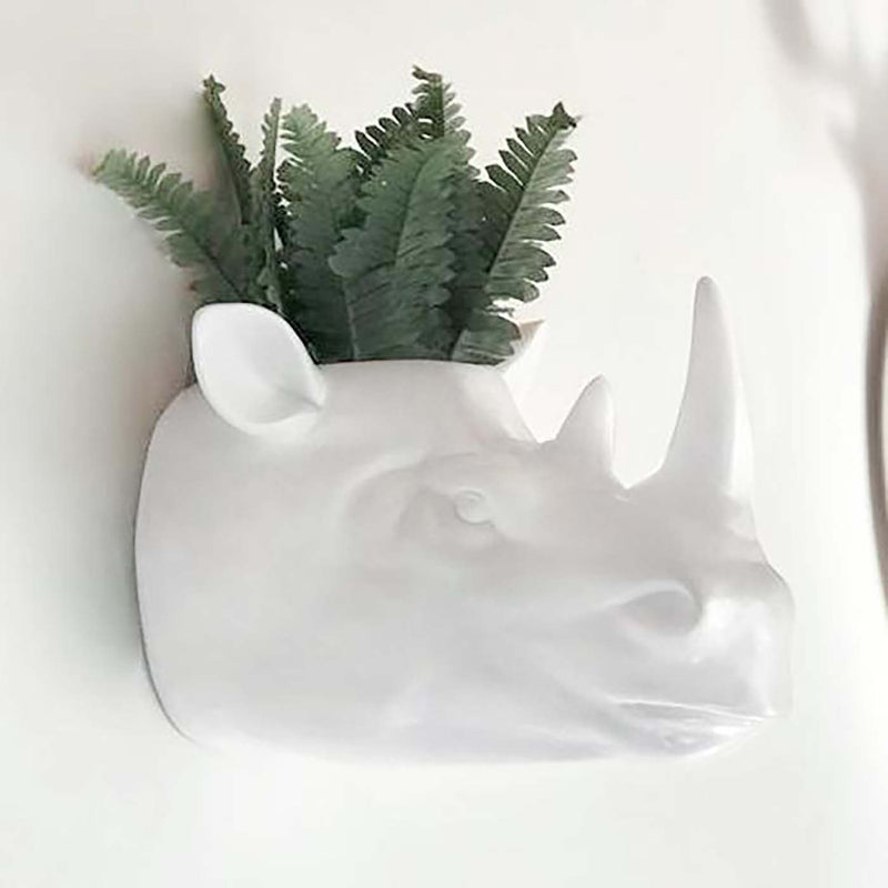 Animal Head Planter-Rory Rhino