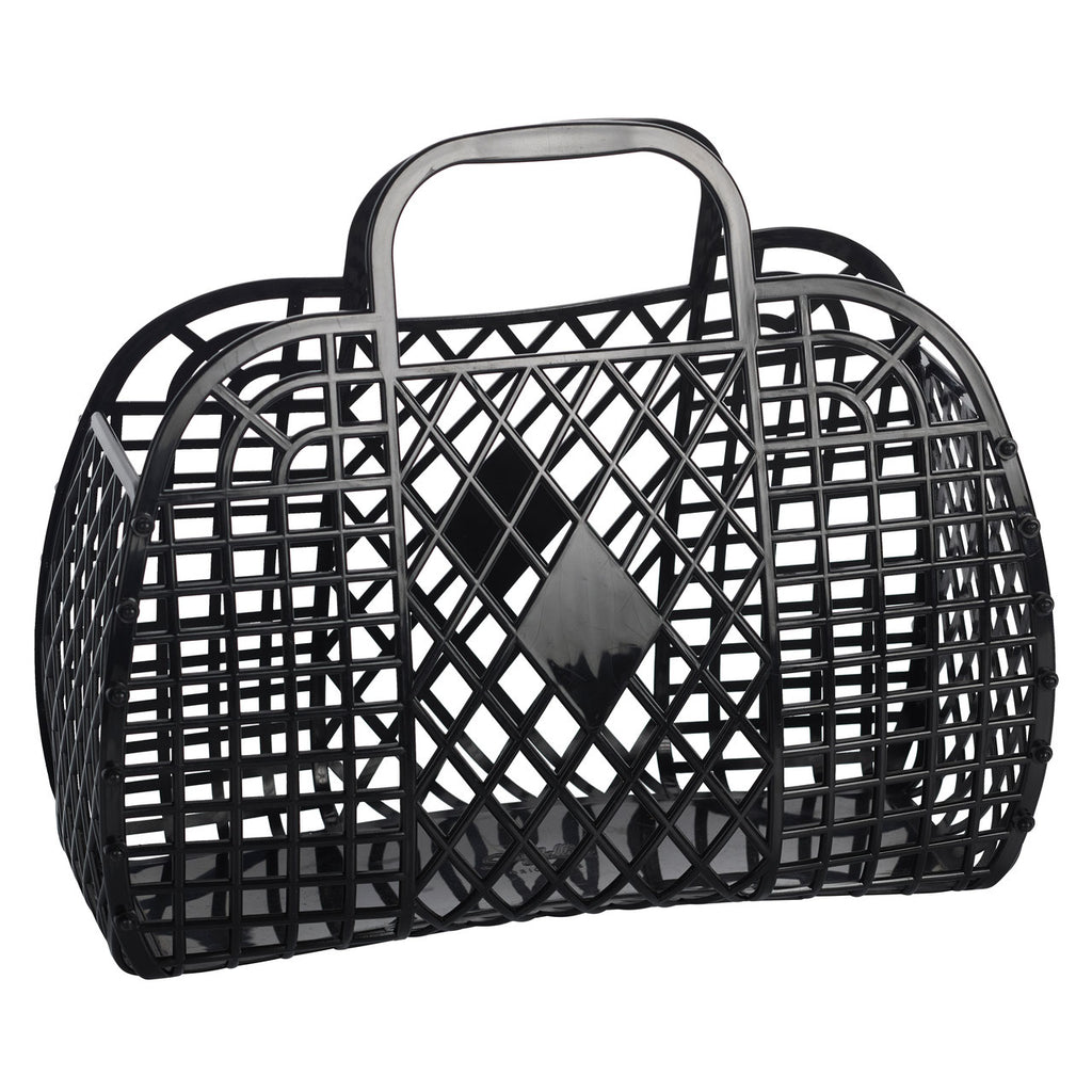 Retro Basket Black Large