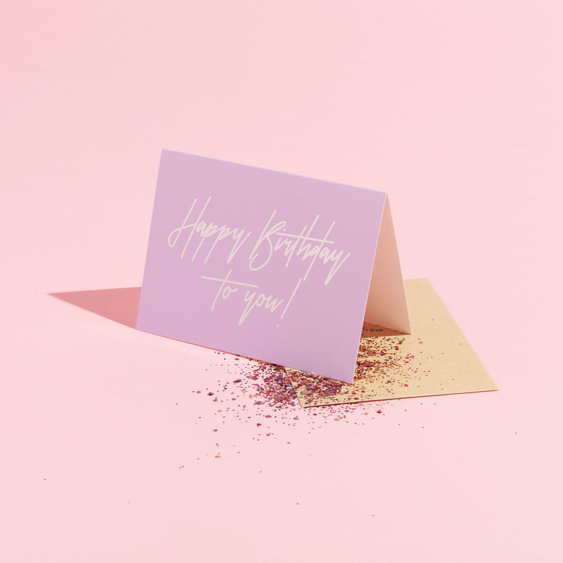 Happy Birthday to You Glitter Card