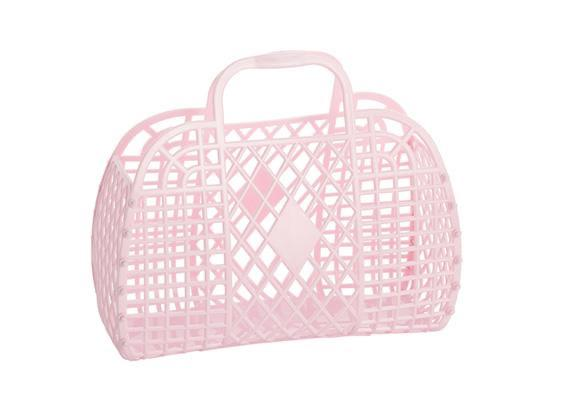Retro Basket Pink Large