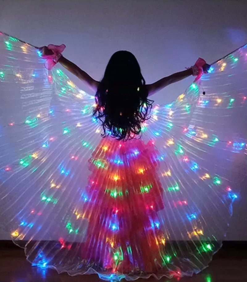 LED Light Up Wings Sm. Rainbow