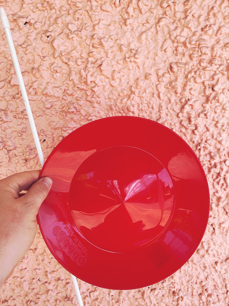 Spinning Plate Red