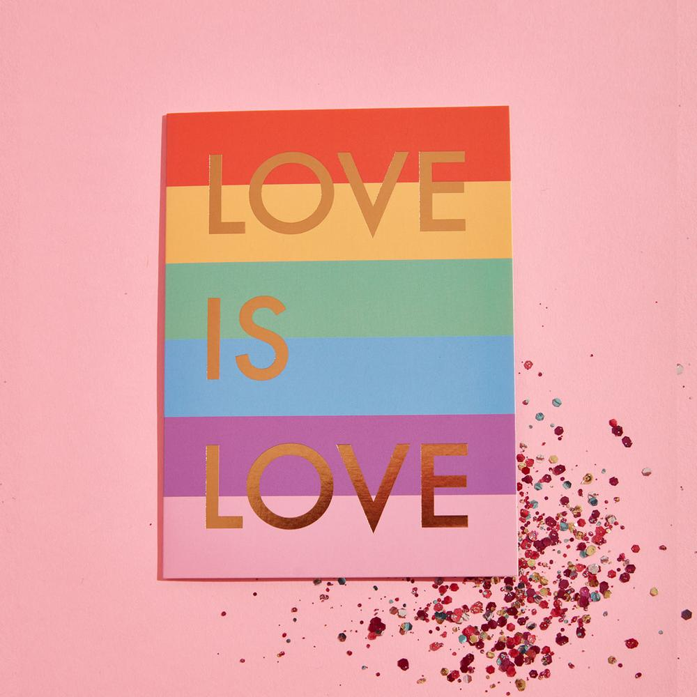 Love is Love Glitter Card