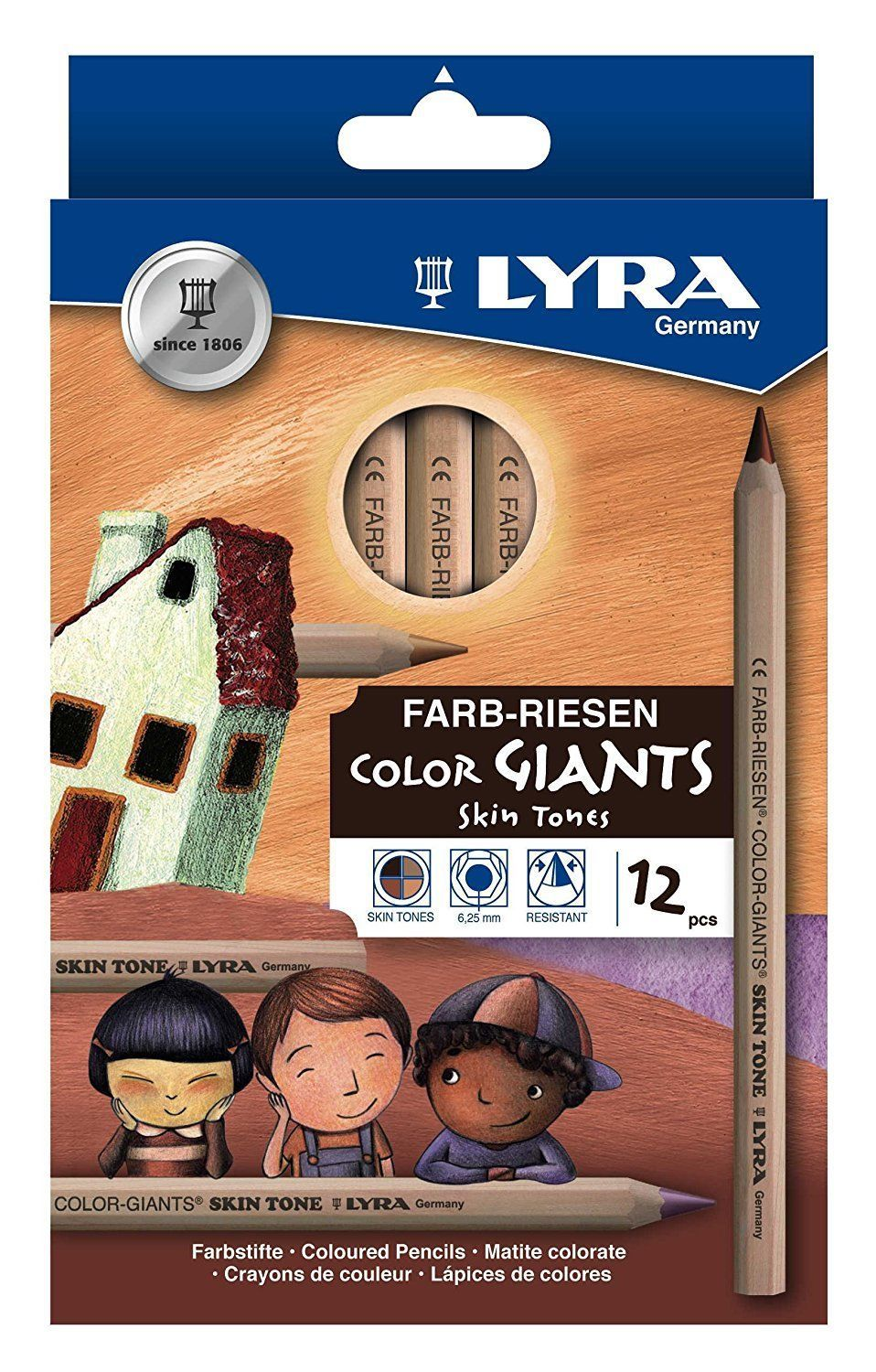 Lyra Giants Skin Tones 12asst Colour