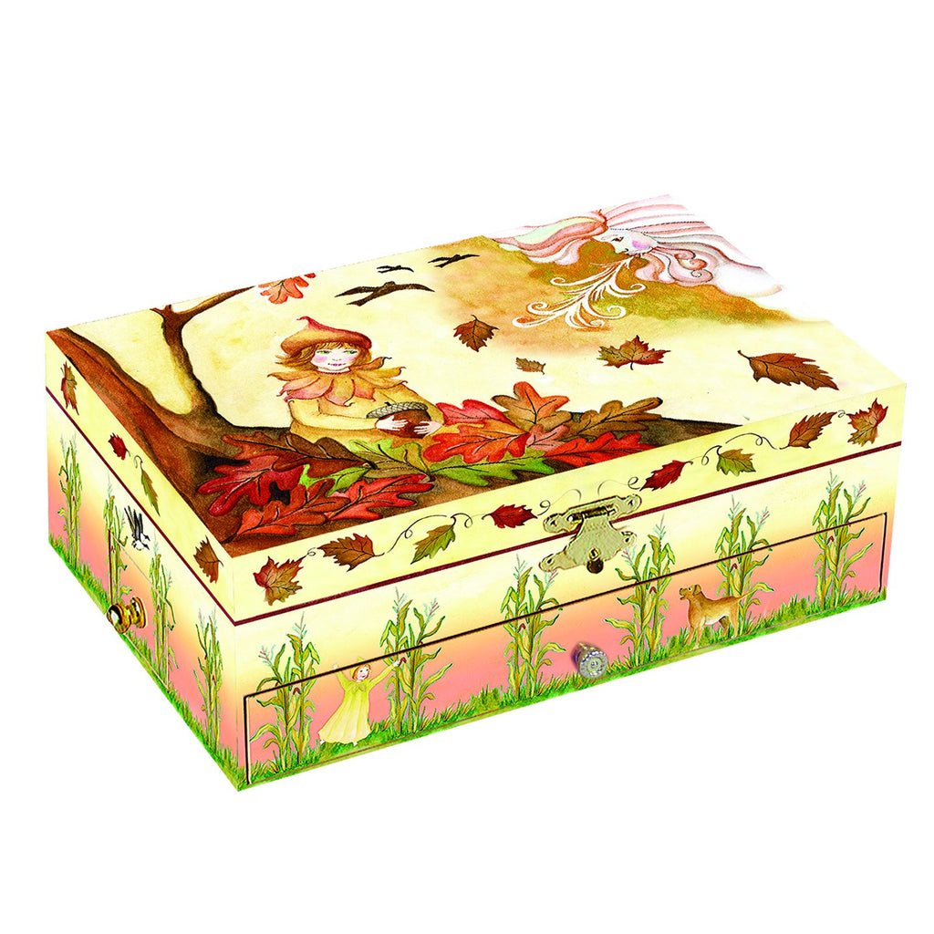 Falling Leaves Music Box