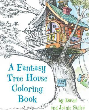Fantasy Tree House Colouring Book