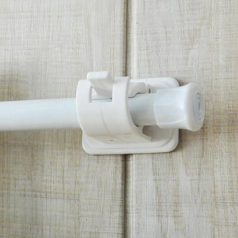 Image of Nail-Free Adjustable Curtain Rod Holder
