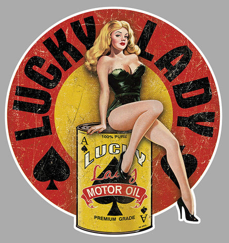 PINUP MOTOR OIL GIRL SEXY PC005