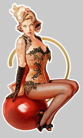 PINUP BLONDE RETRO GIRL NUISETTE PA045