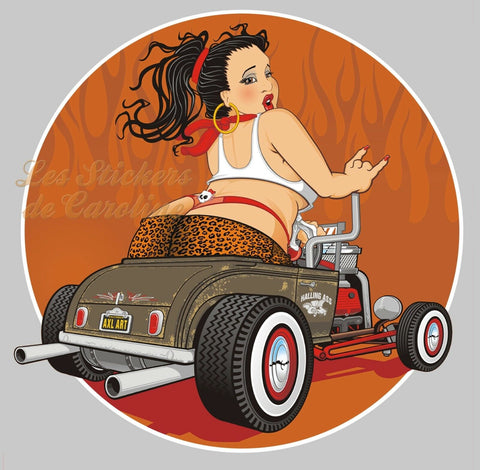 PINUP HOT ROD SEXY GIRL PA086