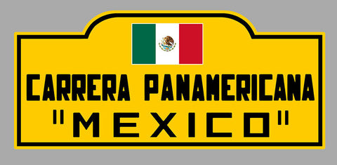 PLAQUE CARRERA PANAMERICANA MEXICO PD026