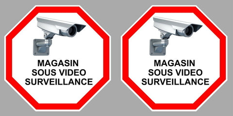 2 x VIDEO SURVEILLANCE MAGASIN 9cm VA109