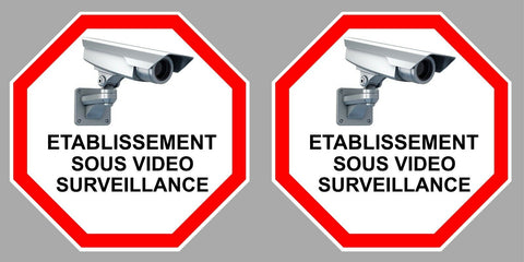 2 X VIDEO SURVEILLANCE 9cm VA096
