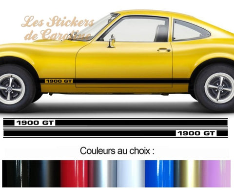 2 BANDES OPEL GT 1900 BD591-13