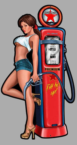 PINUP GARAGE GASOLINE HOT ROD USA PC025