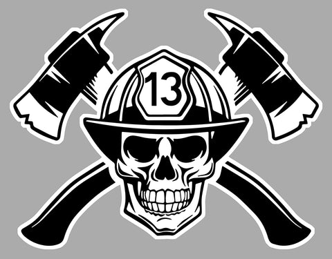 POMPIERS AMERICAIN USA SKULL PD168
