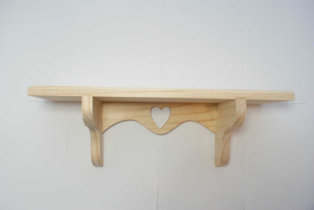 Wood Shelf w/ Carving