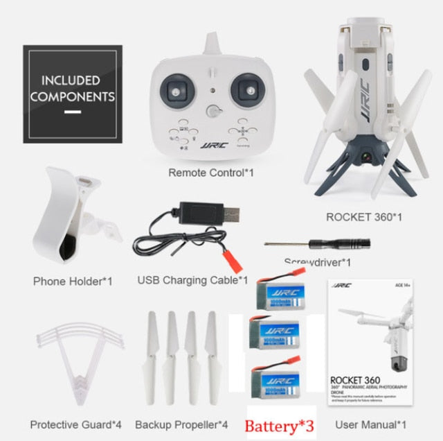 H51 RC Helicopter Rocket-like Selfie Quadcopter Drone