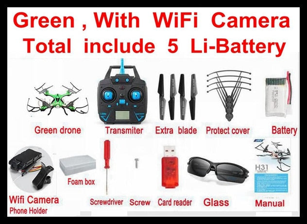 Waterproof RC Helicopter HD Camera Drone With Wifi