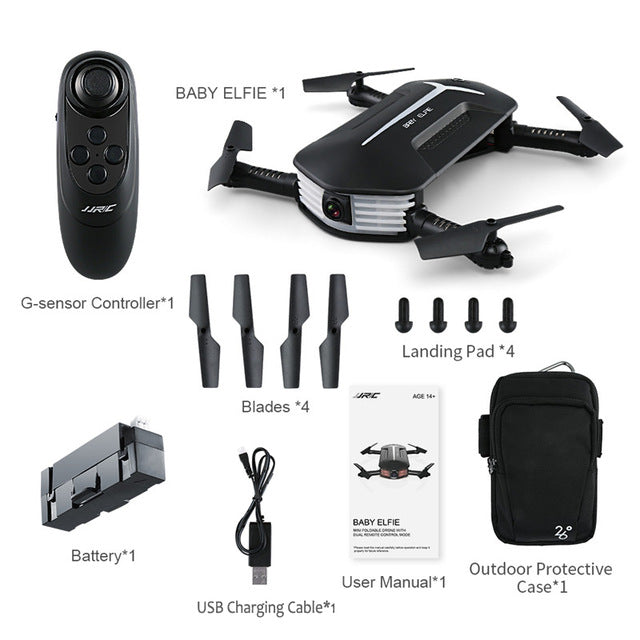 High Quality Foldable Mini RC Selfie Quadcopter Drone