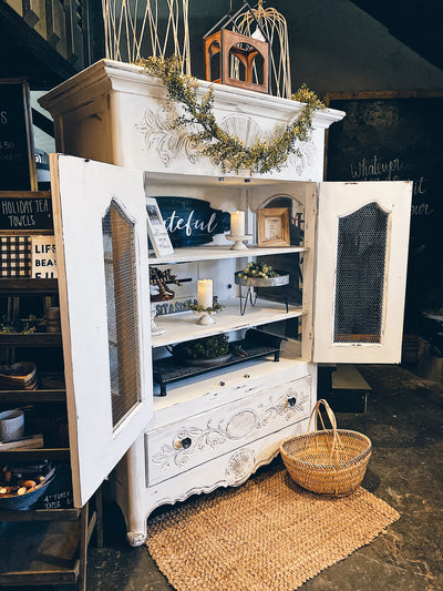 Rustic Farmhouse Hutch | Pure White