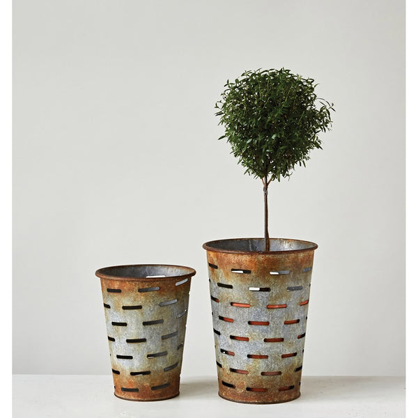 Metal Olive Buckets - 2 Sizes