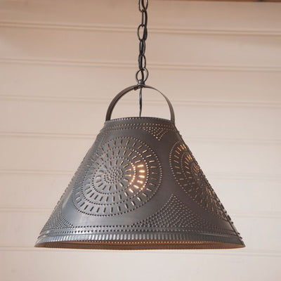 Homestead Shade Light with Chisel in Kettle Black