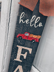 6FT Hello Fall Porch Sign