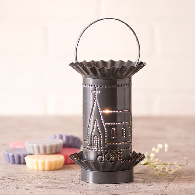 Mini Wax Warmer with Faith Hope Love in Country Tin
