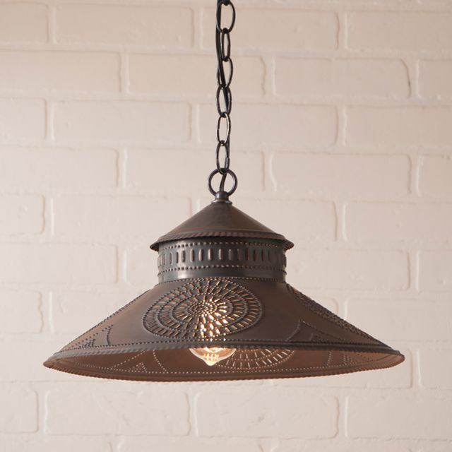 Shopkeeper Shade Light with Chisel in Kettle Black
