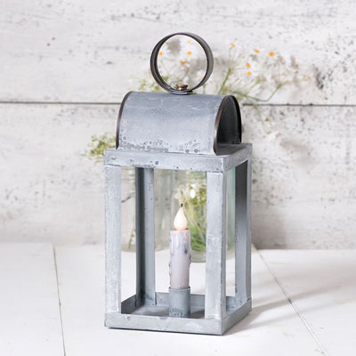 Square Keeping Room Candle Lantern in Weathered Zinc