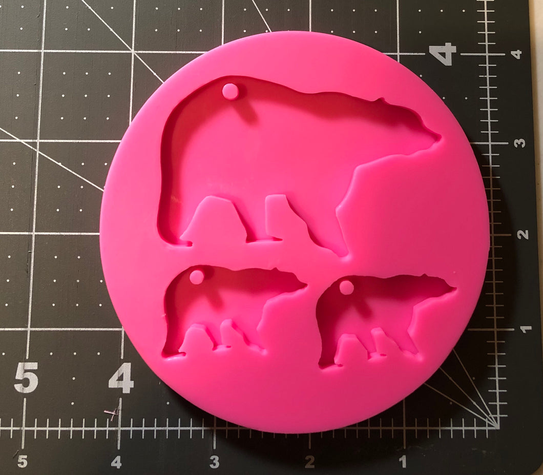 Bear and baby Mold