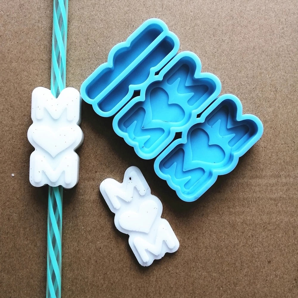 Mom Straw Topper Mold
