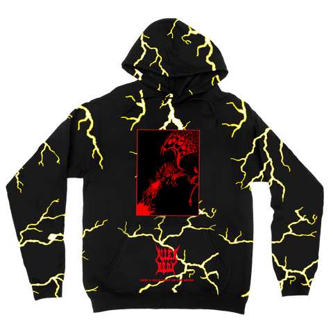 BLACK LIGHTNING DRAGON All Over Print Hoodie