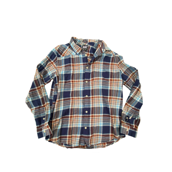 Upcycled Series - Flannel (Blue/Orange)