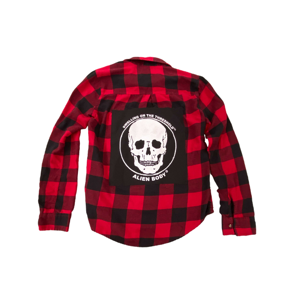 Upcycled Series - Flannel (Red/Black)