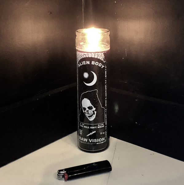 RAW VISION BLACK CANDLE