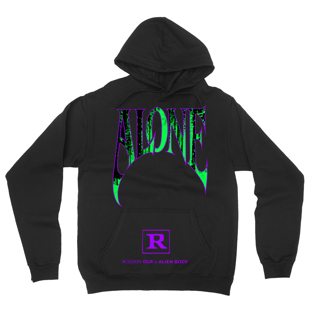 Alone Hoodie - Green and Purple