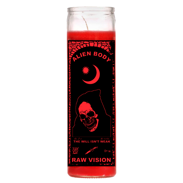 RAW VISION RED CANDLE