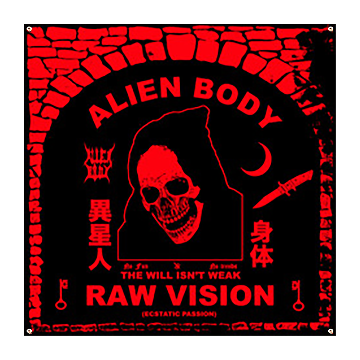 THE RAW VISION FLAG - RED