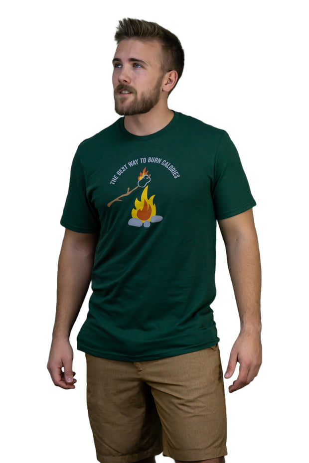 Mens The Best Way to Burn Calories Tee